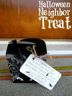 Easy Halloween neighbor/teacher gift and free printable - C.R.A.F.T.