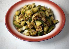 Fuschia Dunlop's Smacked cucumber in garlicky sauce