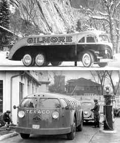 1935 streamlined tankers. Gilmore and Texaco Doodlebug.