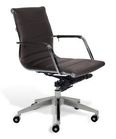 Take a look at this Brown Contemporary Low-Back Office Chair by Jesper Office on #zulily today! $280 !!