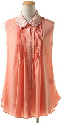 Lace collar shirt / ShopStyle: エベルモーション レース襟付きフロントタックブラウス