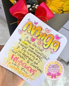 Bff Gifts, Boyfriend Gifts, Paper Art, Birthdays, Lily, Tumblr, Lettering, Creative, Instagram