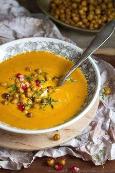 marokańska zupa dyniowa z cieciorką