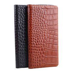 Hot! Genuine Leather Crocodile Grain Magnetic Stand Flip Cover For Nokia Lumia 930 Luxury Mobile Phone Case + Free Gift