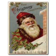 vintage christmas cards | re create a by gone era when christmas greetings were sent via penny ...