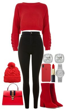 A fashion look from December 2017 by featuring River Island, Topshop, Maison Margiela, Gucci, Frederic Sage and Michael Kors Really Cute Outfits, Cute Lazy Outfits, Cute Swag Outfits, Retro Outfits, Stylish Outfits, Girls Fashion Clothes, Winter Fashion Outfits, Casual Teen Fashion, Summer Outfits