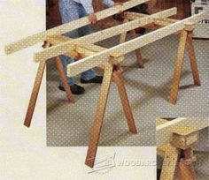WoodArchivist is a Woodworking resource site which focuses on Woodworking Projects, Plans, Tips, Jigs, Tools Sawhorse Plans, Folding Sawhorse, Woodworking Jigs, Woodworking Projects, Saw Horse Table, Tool Tote, Air Tools, Garage Storage, Table Plans