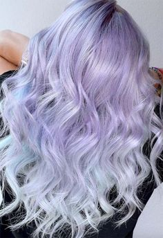 Most amazing and adorable trends of lavender ice blonde hair colors are perfect options for all the women who wanna make them look more sexy. Visit here how to choose the best purple hair color in Lavender Hair Colors, Lilac Hair, Pastel Hair, Ombre Hair, Crazy Color Lavender, Green Hair, Blue Hair, Bold Hair Color, Hair Color Shades