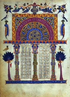 Page from Armenian bible illuminated by T'oros Roslin, 1256