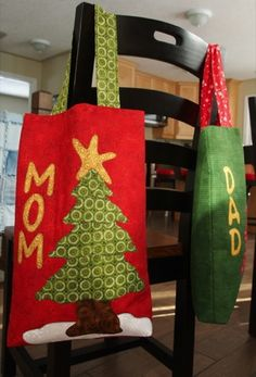 Two Christmas Bags, How to make and add handles - A Technique Tuesday Post