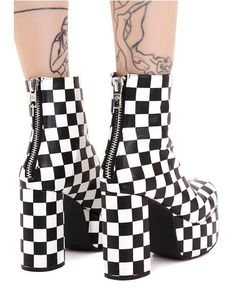 platform shoes One Step Beyond Platform Booties Goth Shoes, Funky Shoes, Shoes Heels, Grunge Shoes, Crazy Shoes, High Platform Shoes, Kawaii Shoes, Punk Boots, Aesthetic Shoes