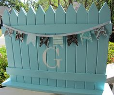 Picket Fence- different color, different letter of course...but something possible!