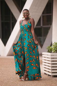 African Bridesmaid Dresses, African Print Dresses, African Print Fashion, African Fashion Dresses, African Dress, Fashion Outfits, Ankara Fashion, African Prints, Maxi Dresses