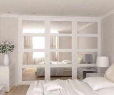 42 Trendy bedroom storage for small rooms wardrobes Trendy Bedroom, Small Space Storage Bedroom, Small Bedroom Ideas For Couples, Small Room Bedroom, Bedroom Interior, Couple Bedroom, Woman Bedroom, Bedroom Diy, Remodel Bedroom