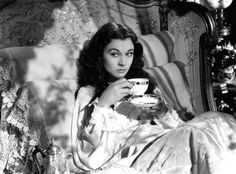Vivien Leigh in Gone With The Wind - A spot of tea