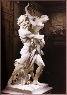 'De roof van Proserpina' Dit beeld is gemaakt door Gianlorenzo Bernini. Van 1622 tot 1623. Dit beeld staat in de Galleria Borghese in Rome(Italië). 35 De roof van Proserpina 'De roof van Proserpina' 1622-1623 Dit beeld toont Pluto, die Proserpina wilt verkrachten. Dit beeld wordt als een meesterwerk gezien, omdat het zeer mooi gemaakt is. Zo is het detail van Pluto's hand op de linkerdij van Proserpina zeer bekend. Ook de traan, die Proserpina laat, is een prachtigafgewerkt detail.