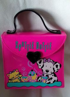 74d380e87 Vintage Sanrio 1990, 1995 SPOTTIE DOTTIE & SASSY CAT Mini Vinyl Handbag -  RARE! Little Twin StarsLittle GirlsSanrioSassyHello KittyModern ...