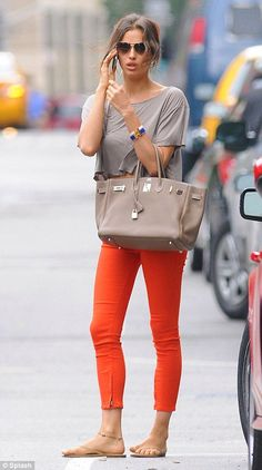 Oranje crushed: Cunning Irina's orange trouser plan worked a treat