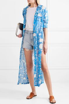 Double Rainbouu | Printed cotton shirt dress | NET-A-PORTER.COM