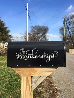 Personalized Mailbox Decal by MuggleMadeCreations on Etsy