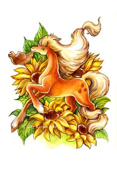 Flower Ponies - Applejack by TrollGirl.deviantart.com on @DeviantArt