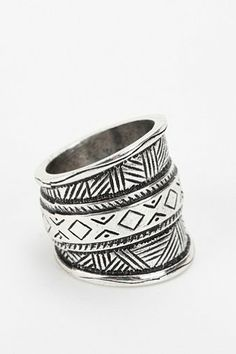 Geo Etched Ring