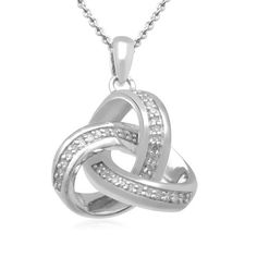 Sterling Silver Diamond Pendant Necklace (1/10 Cttw, I-J Color, I2-I3 Clarity), 18 Inch Amazon Curated Collection. $54.90. Made in India. Save 60%!