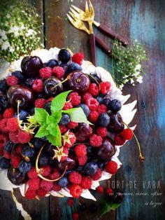 Angel's food: Tort de vara cu zmeura, cirese, afine si bezea Cherry, Pies, I Love, Prunus