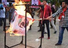 تظاهرات احتجاجًا بمواقف الرئيس محمود عباس ضد الجبهة