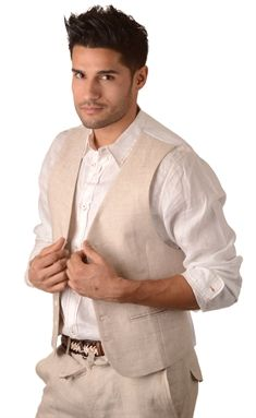 Men's Attire~Unbutton the shirt a bit... Keep sleeves rolled up ...