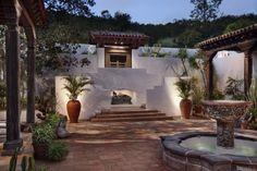 Val Verde, CA, Mediterranean-style courtyard. GDC Construction.