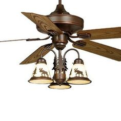 Rustic Ceiling Fans Amp Lighting From Castantlers Home