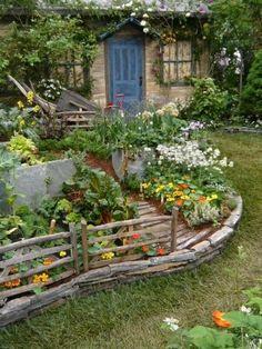 30 garden design ideas - the dream garden at home - Bauerngarten Shed Landscaping, Landscaping Software, Cottage Garden Design, Garden Design Ideas, Design Jardin, Easy Garden, Garden Diy On A Budget, Raised Garden Beds, Raised Beds