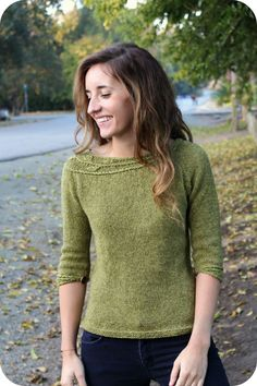 Womens Sweater Knitting Patterns Never Not Knitting: Sprig My latest sweater pattern. Available fo...