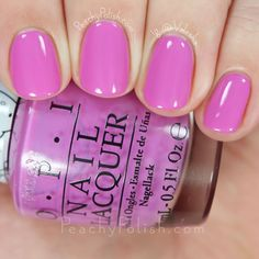 Opi super cute in pink hello kitty collection peachy polish Cute Nails, Pretty Nails, Nail Time, Manicure Y Pedicure, Nail Envy, Opi Nails, Shellac, Mo S, Fabulous Nails