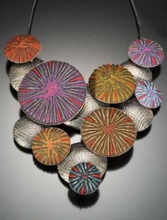 Ford / Forlano | Clark Gallery: pillow cascade necklace - polymer clay & sterling silver