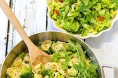 Tortellini med chili og brokkoli