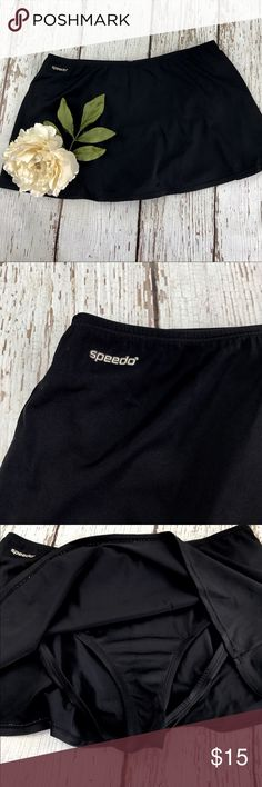 "💕SALE💕 Speedo Black Tennis Skirt Awesome 💕 Speedo Black Tennis Skirt with built in bottoms 12"" from the waistband to the bottom fits like a medium with 29"" Waist Speedo Skirts"