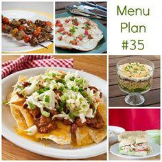 Menu Plan Monday Week 35 w free printable grocery list
