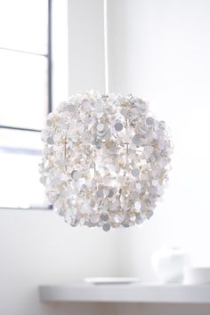 White sequined pendant lamp