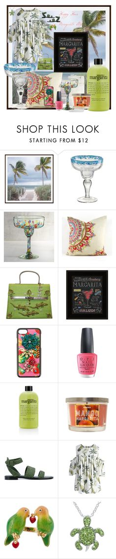 """""""Margarita Style"""" by dreamcatcher51 ❤ liked on Polyvore featuring Pottery Barn, Artland, Pier 1 Imports, Carlo Zini, Dolce&Gabbana, OPI, philosophy, SONOMA Goods for Life, Paul Andrew and Chicwish"""