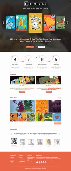 Chemistry - Responsive Portfolio  Shop WP Theme #design #creative
