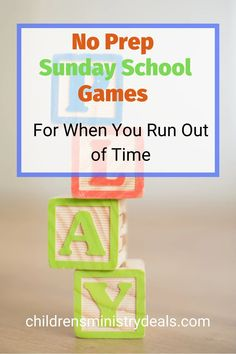 Here you will find a bunch of No-prep Sunday School Games! Because let's face it, we all run into those days when we run out of time more often than we'd like to admit.