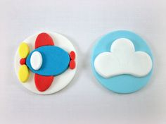 Airplane cupcake toppers