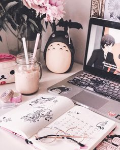 hello june ♡ time for everything iced and lots of popsicles 🍦🌸 - SCHOOL ROOM Cute Room Ideas, Cute Room Decor, Aesthetic Room Decor, Pink Aesthetic, Kawaii Bedroom, Gaming Room Setup, Gamer Room, Nerd Room, Study Inspiration