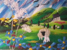Sheep and Lamb by Sue Forey