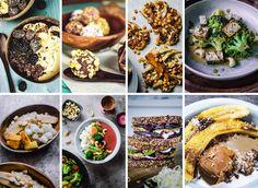 Mach mit und iss 1 Woche vegan mit Kathi kocht! Ethnic Recipes, Challenge, Food, Fried Bananas, Crispy Tofu, Baked Banana, Indian Dishes, Essen, Eten