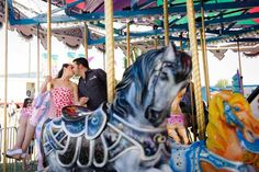 Andie & CJ's Sweet and Candy-Colored E-session in a Carnival | Poptastic Bride