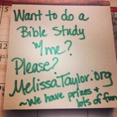 An Online Bible Study community that fits my schedule.  Success!