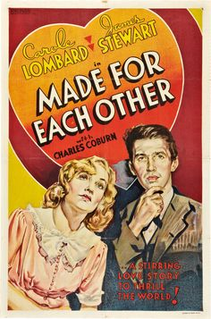 Made for Each Other (John Cromwell, 1939) Other Company one sheet design
